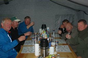 The Norwegians!-Celebrating in style at Litza Tent Camp click on image to enlarge