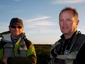 Per and Oivind back from a long walk - click on image to enlarge
