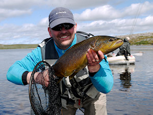 Geir with his first 3 kg fish