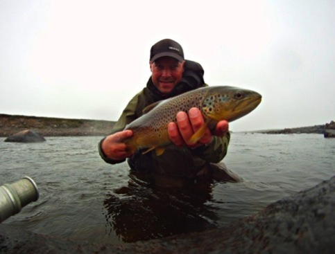 Another beautiful trophy trout caught at Sami Cabin by Roger