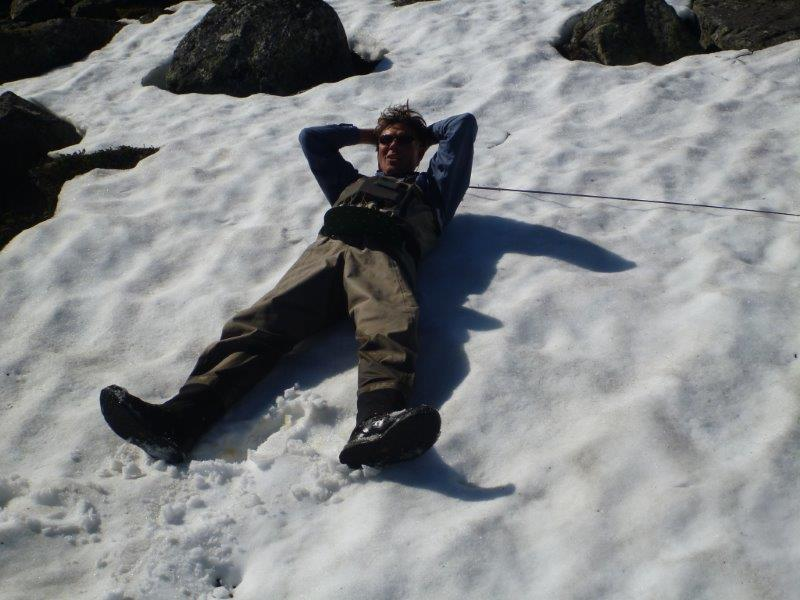 Picture 15 Kjetil relaxing on snow in very warm weather