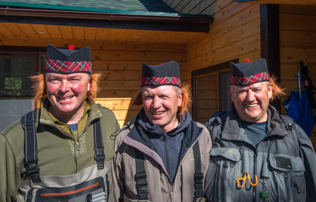 180. Team MacGregor!  Kola, Jamie and Alan, Kharlovka River, Russia