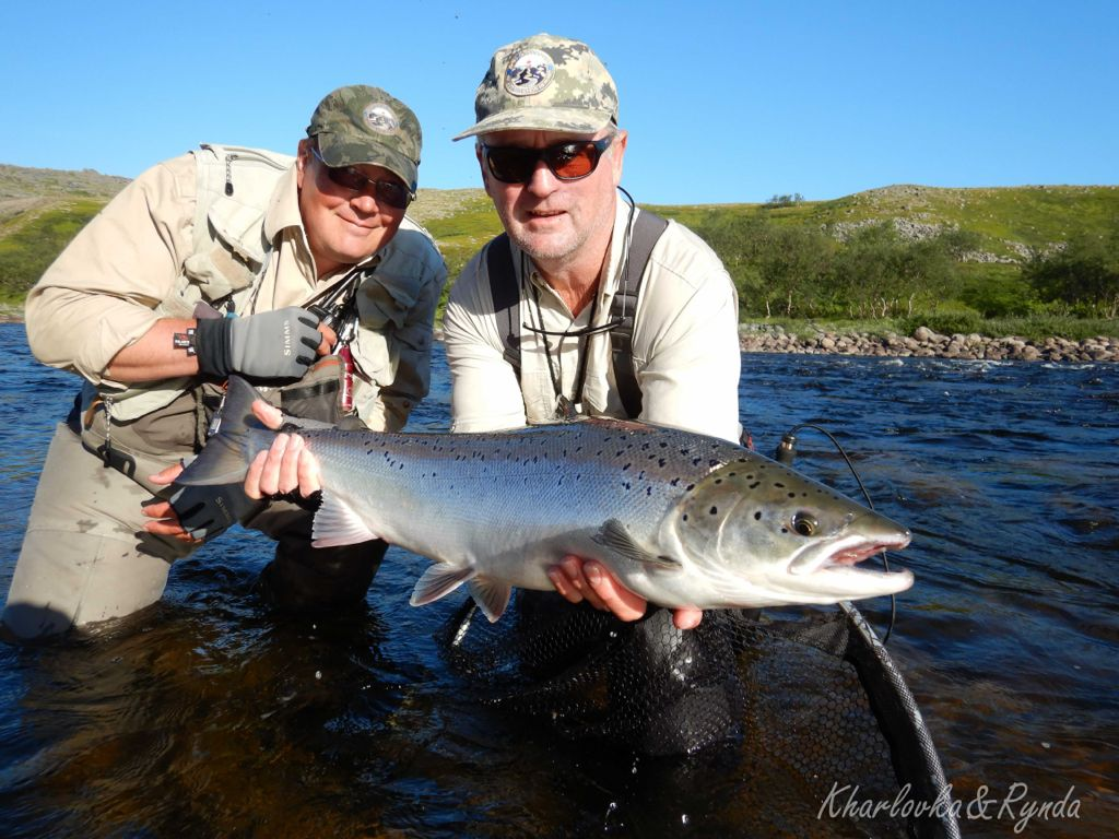 3 Dima and David from Australia with a nice salmon